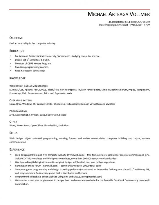 how to create an impressive job resume