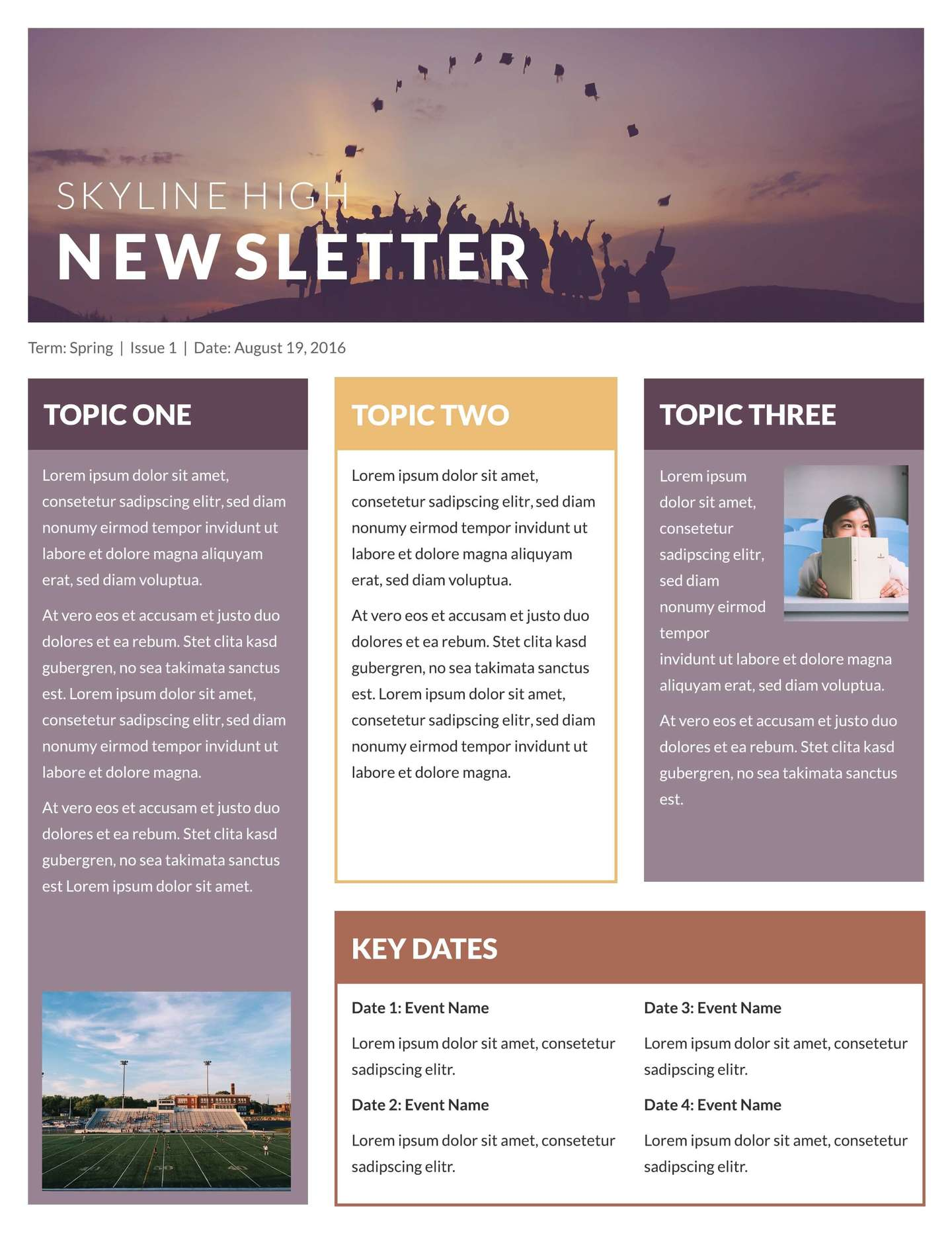 where can you find a newsletter template