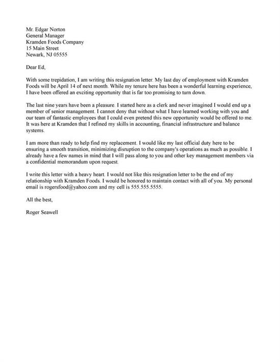 What is a resignation letter resignation letter spiritdancerdesigns Images