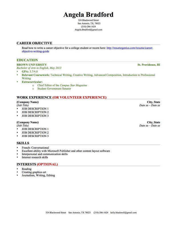 Resume For College Student  How To Make A Resume College Student