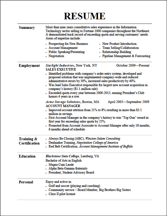 Additional coursework on resume display