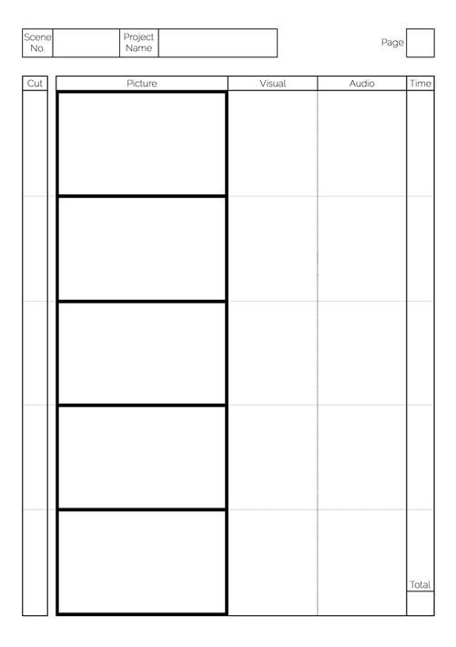 A3 Storyboard Template Images Template Design Free Download