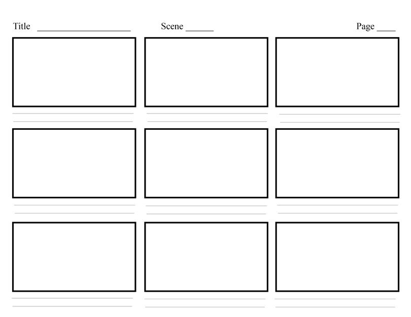 What Is A Storyboard Template