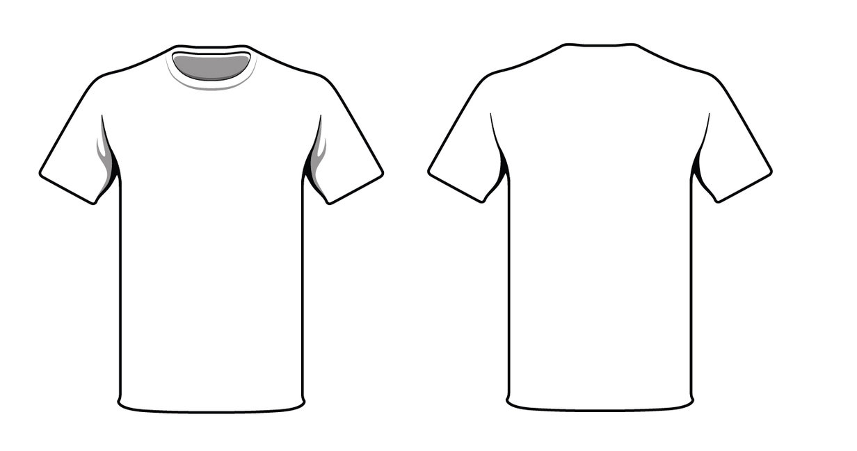 T Shirt Drawing Template Romeolandinezco - Pocket t shirt template