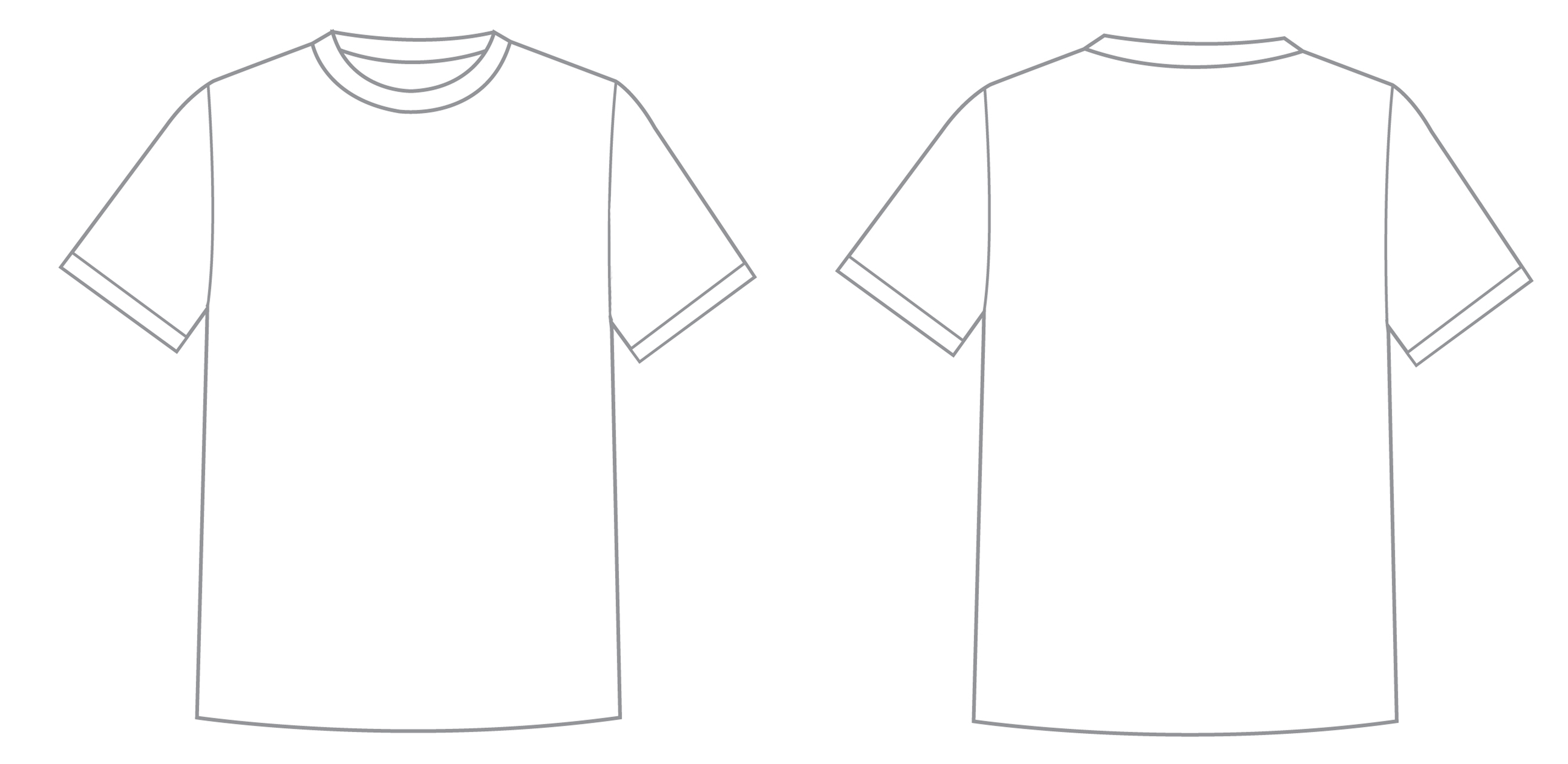What is t shirt template for Fashion designing templates free download