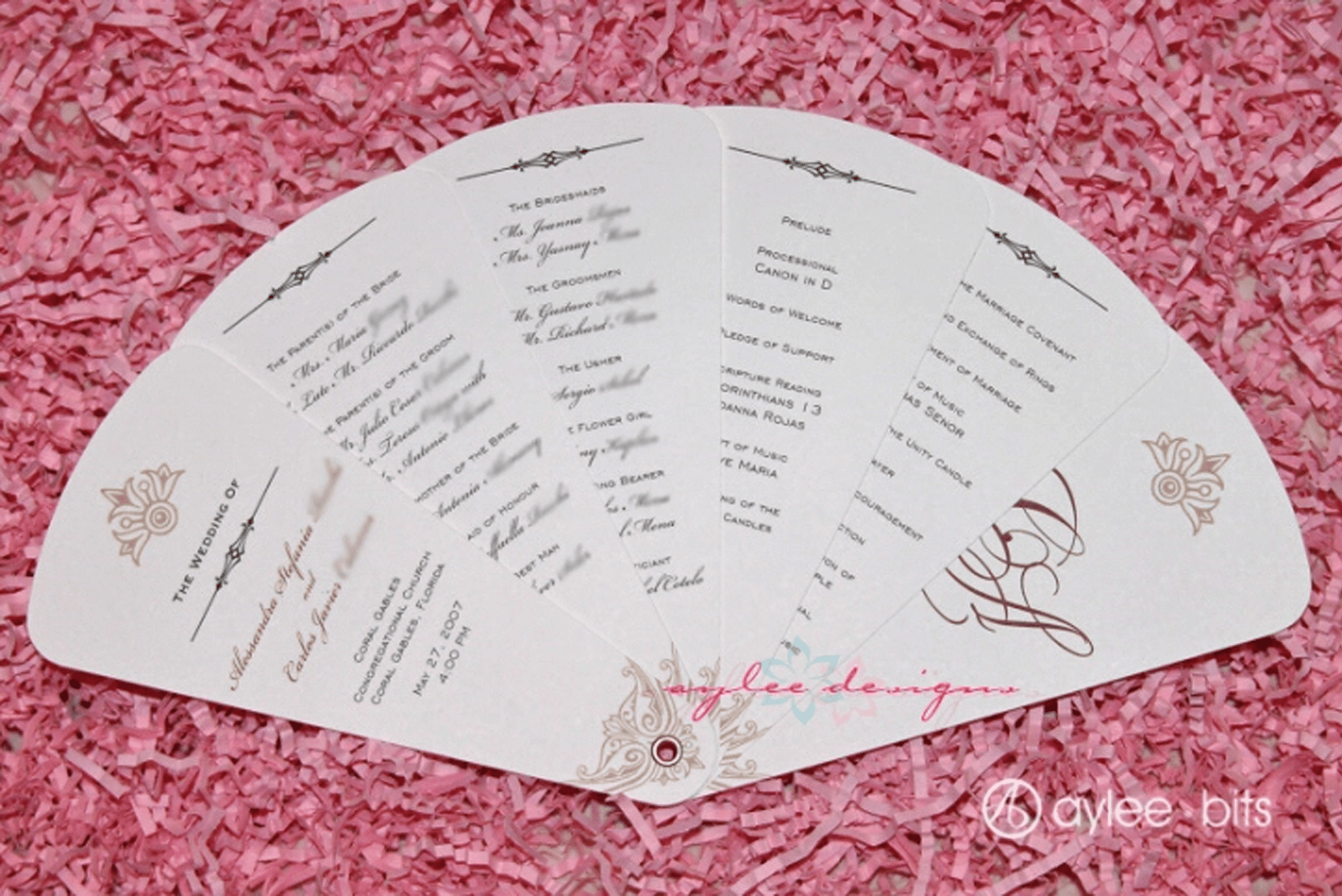 What is a Wedding Program Template?