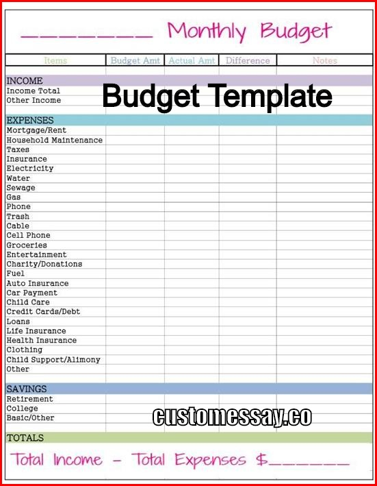 Where can you find a Budget Template?