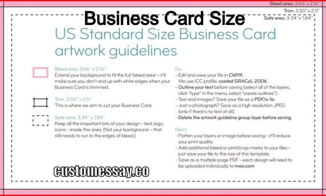 Standard business card size colourmoves
