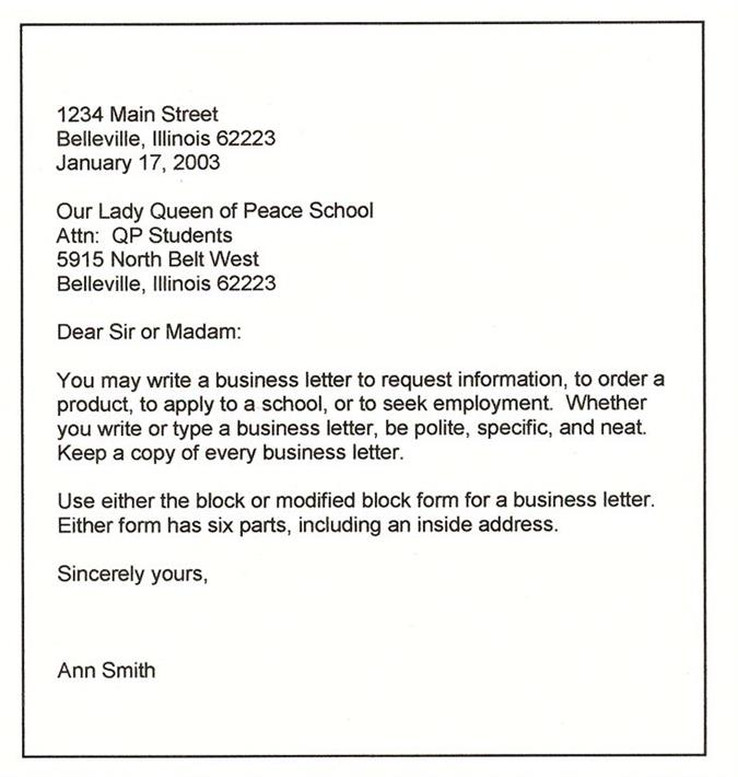 What is a business letter business letter spiritdancerdesigns Gallery