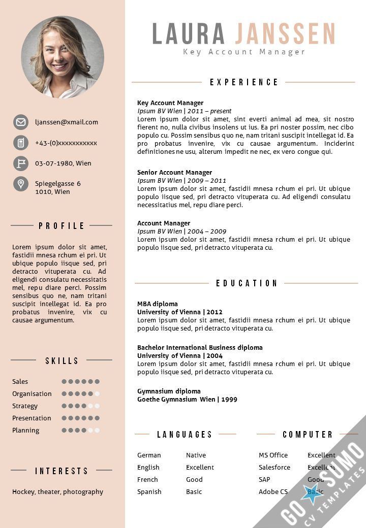 Where can you find a CV Template?