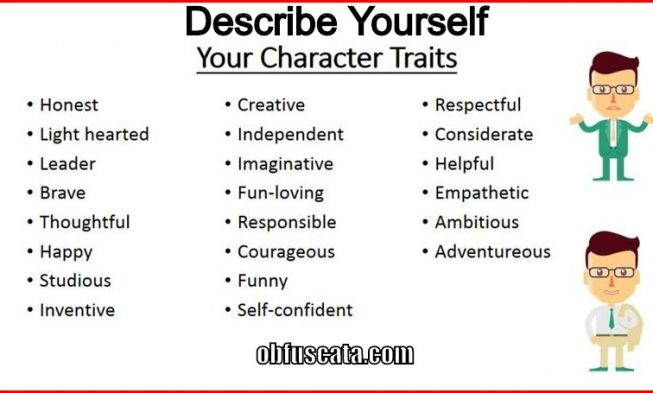 one word to describe yourself essays If you're applying for an accounting job, the one-word descriptor should not be  creative, and if it's an  this is your opportunity to describe how your best  attributes are a great match for the job as you see it  personal essay.