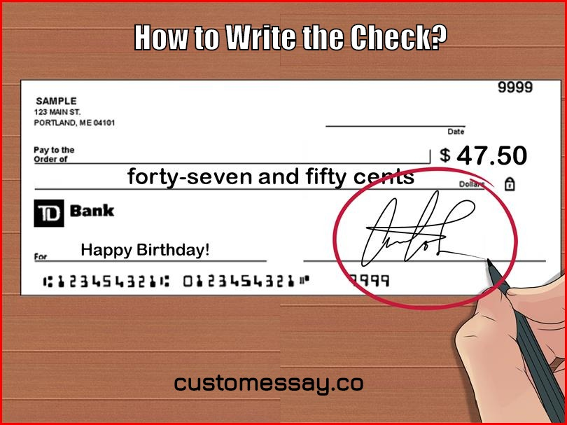 How to Write the Check