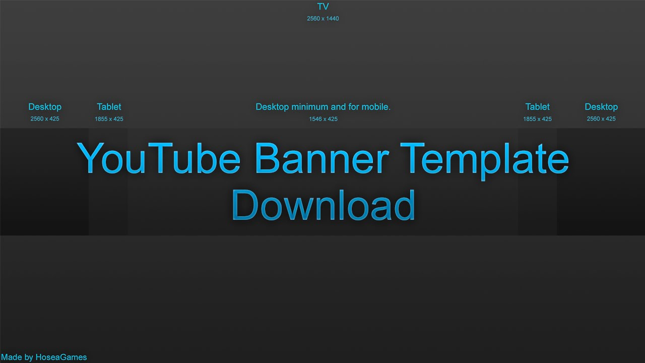 What is a youtube banner template for Free youtube templates