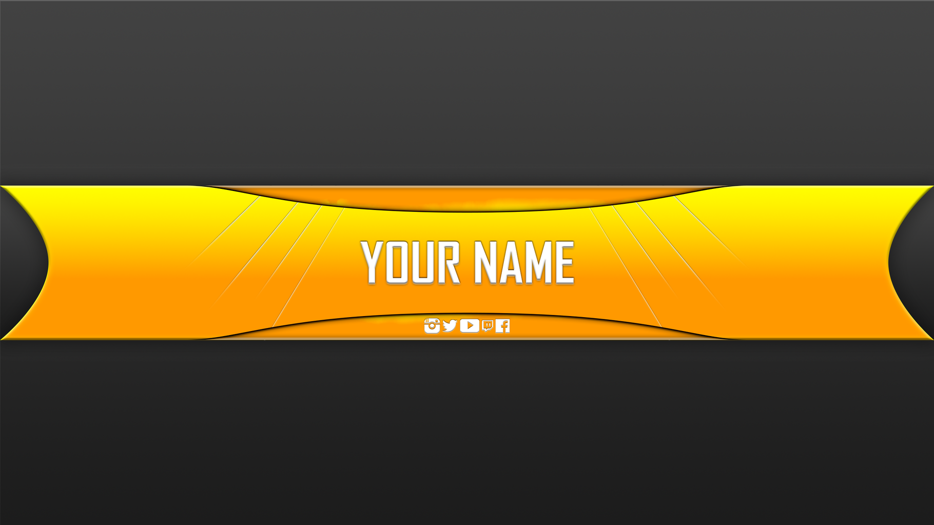 Blank youtube banner template