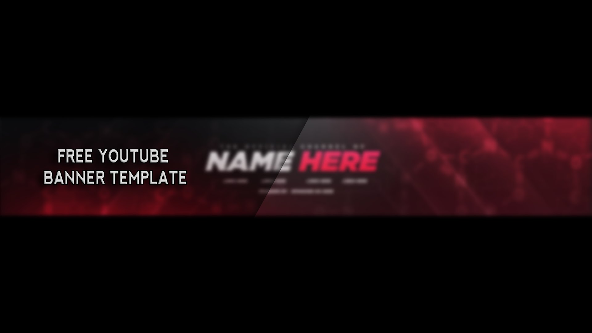 what is a youtube banner template