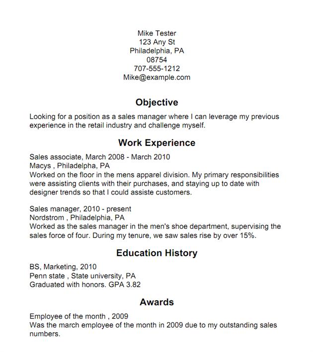 Create a Resume