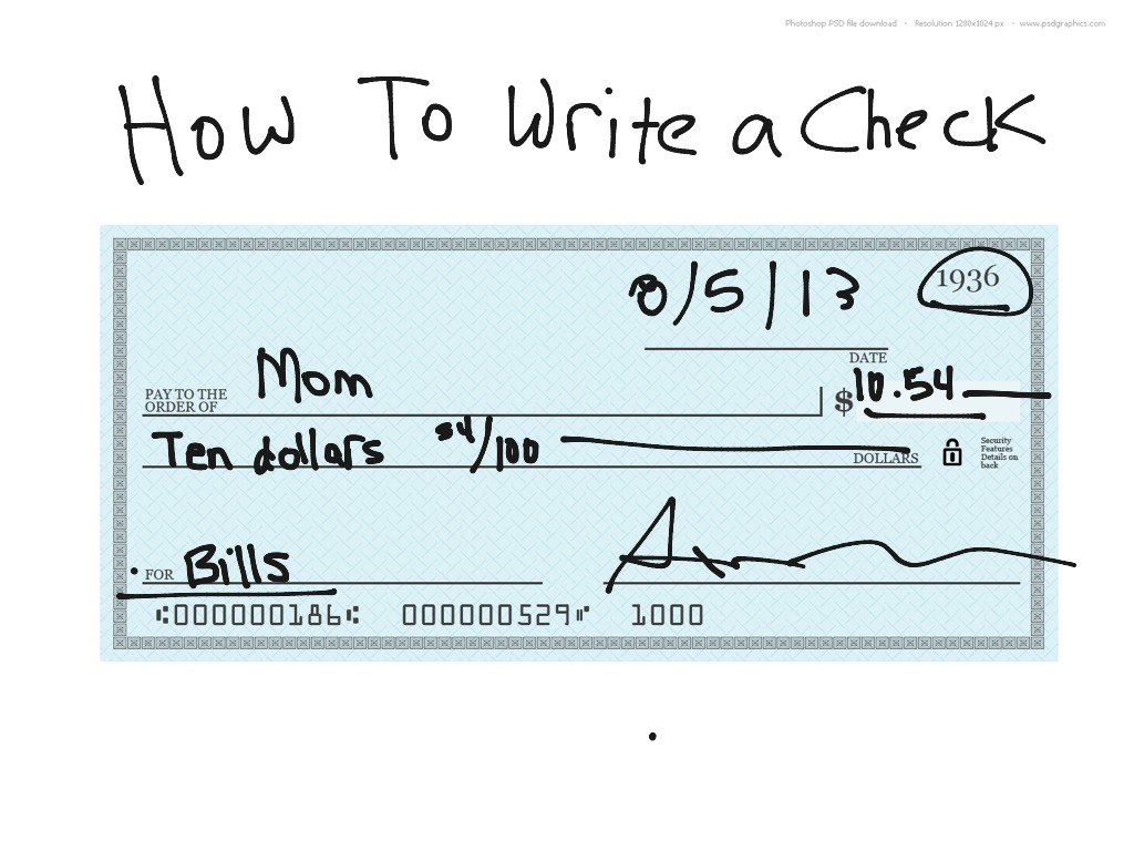 how to write a check Write the date you are writing the check if you need the payee to wait until a certain day to cash the check, write that date, this is called postdating and is used to prevent a check from.