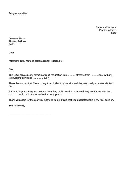 Resignation Letter Linekdin
