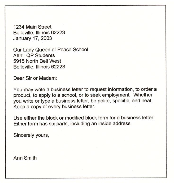 Best business letter format best business letter formats spiritdancerdesigns Choice Image