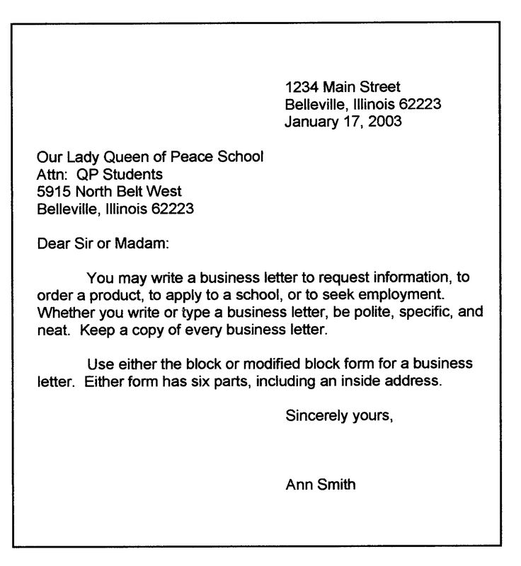 Best Business Letter Format