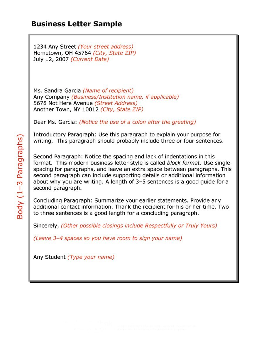 Best Business Letter Formats