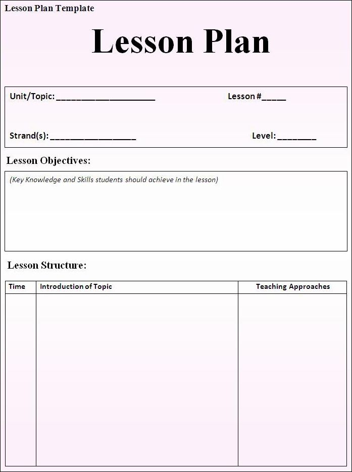 Lesson Plan Template 2g