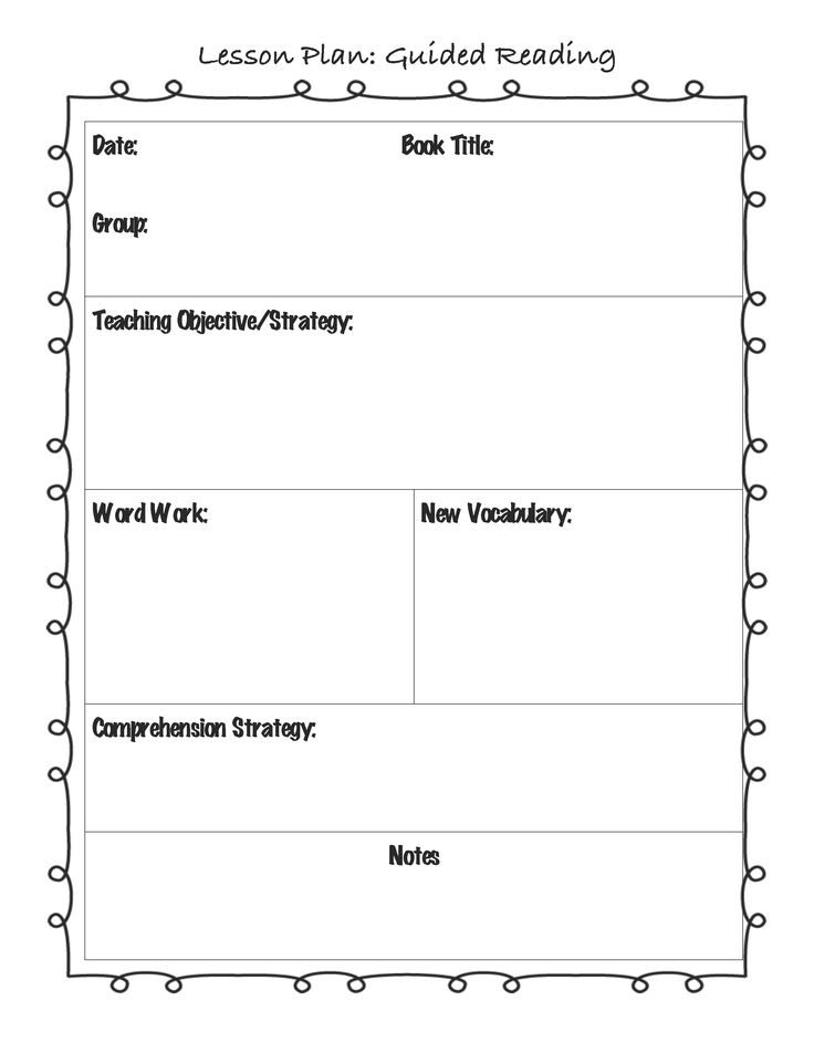 Plan Template - How to create a lesson plan template
