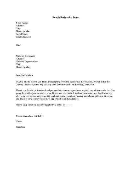Where can you find a Resignation Letter Template?