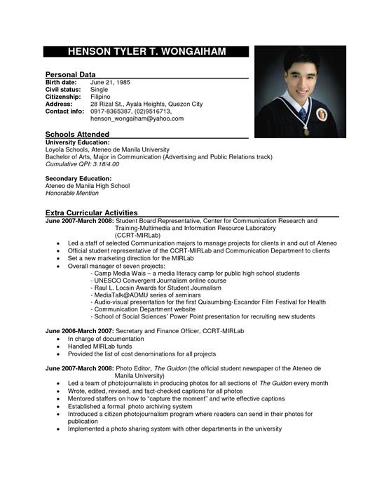 Best Resume Format Examples