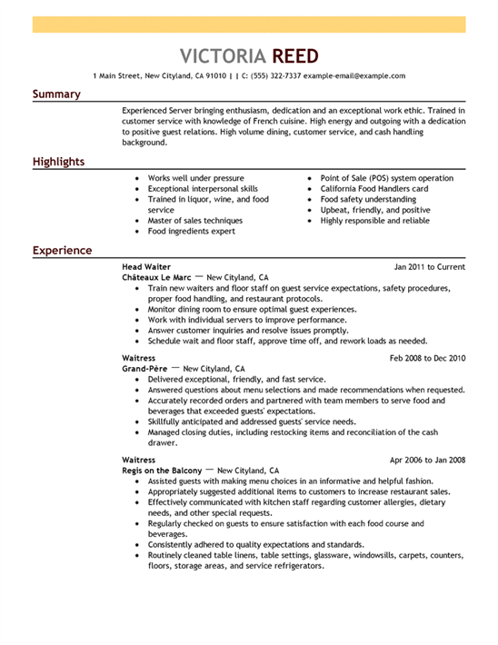customer service resume sample and examples