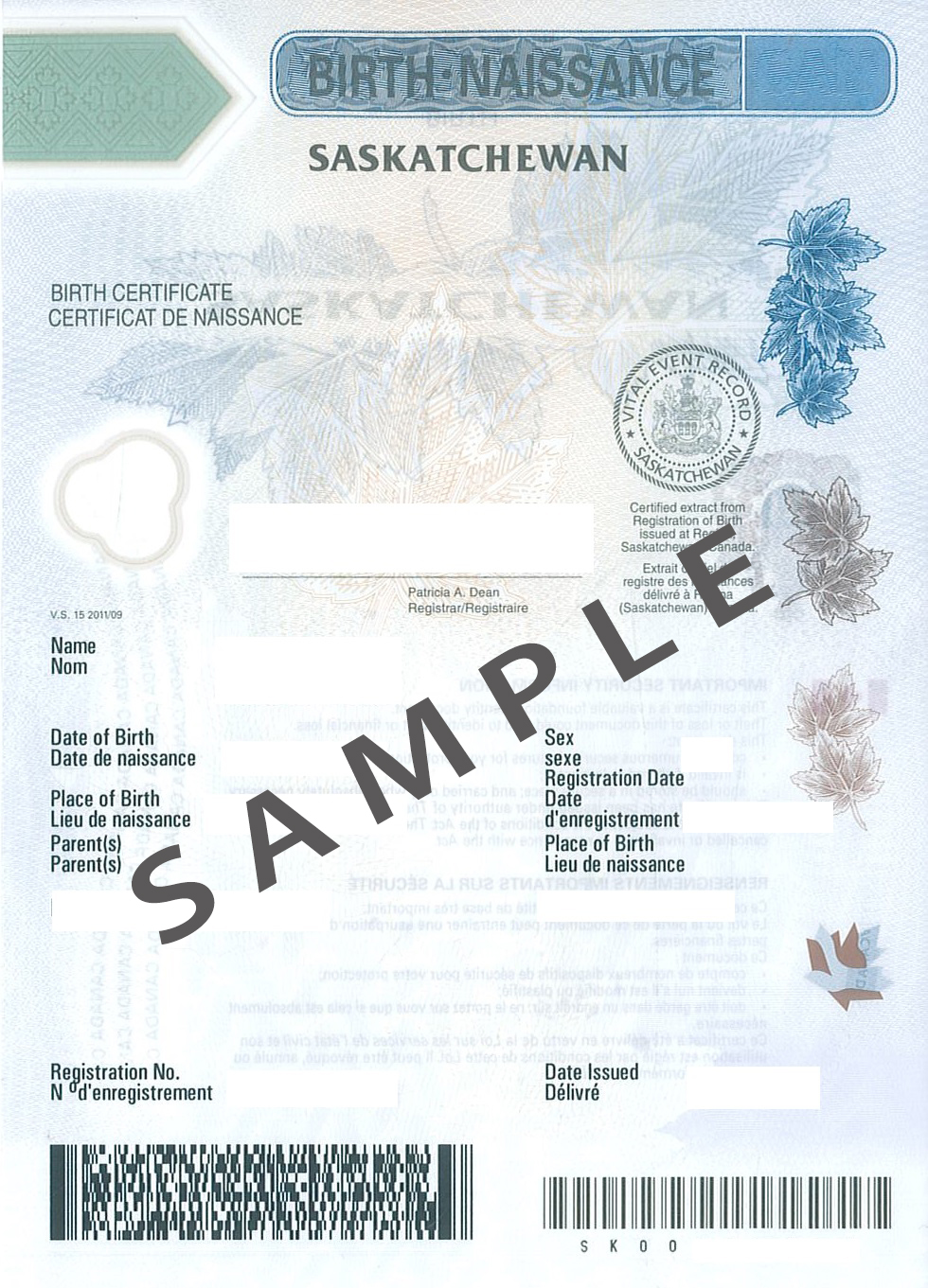 How birth certificate should be for Share certificate template alberta