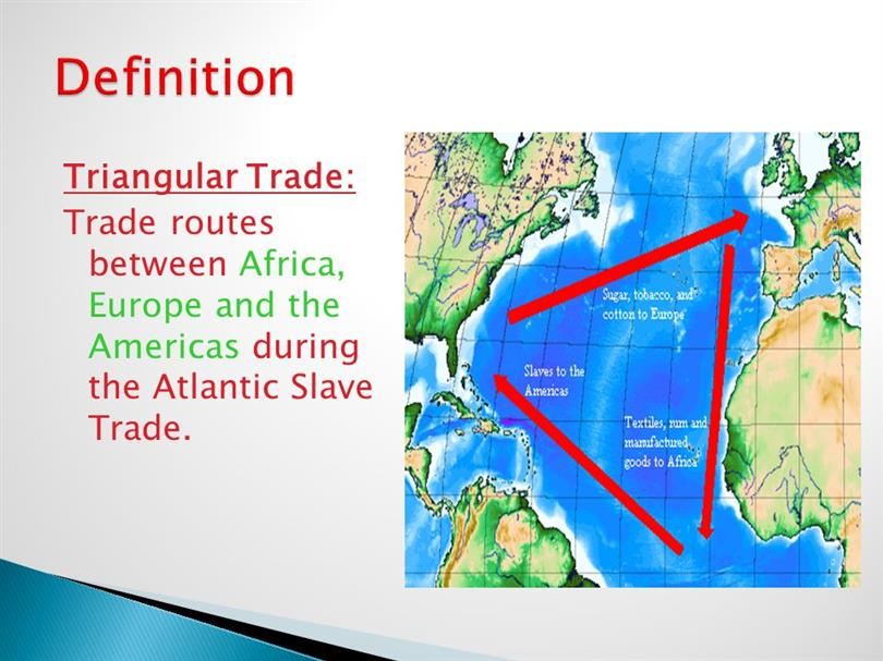 the role of slavery and triangular trade in capitalism Slavery's centrality to capitalist development is part of the reason why the slave trade has always been an acute embarrassment to our rulers, and why they will now try to suggest it was a .