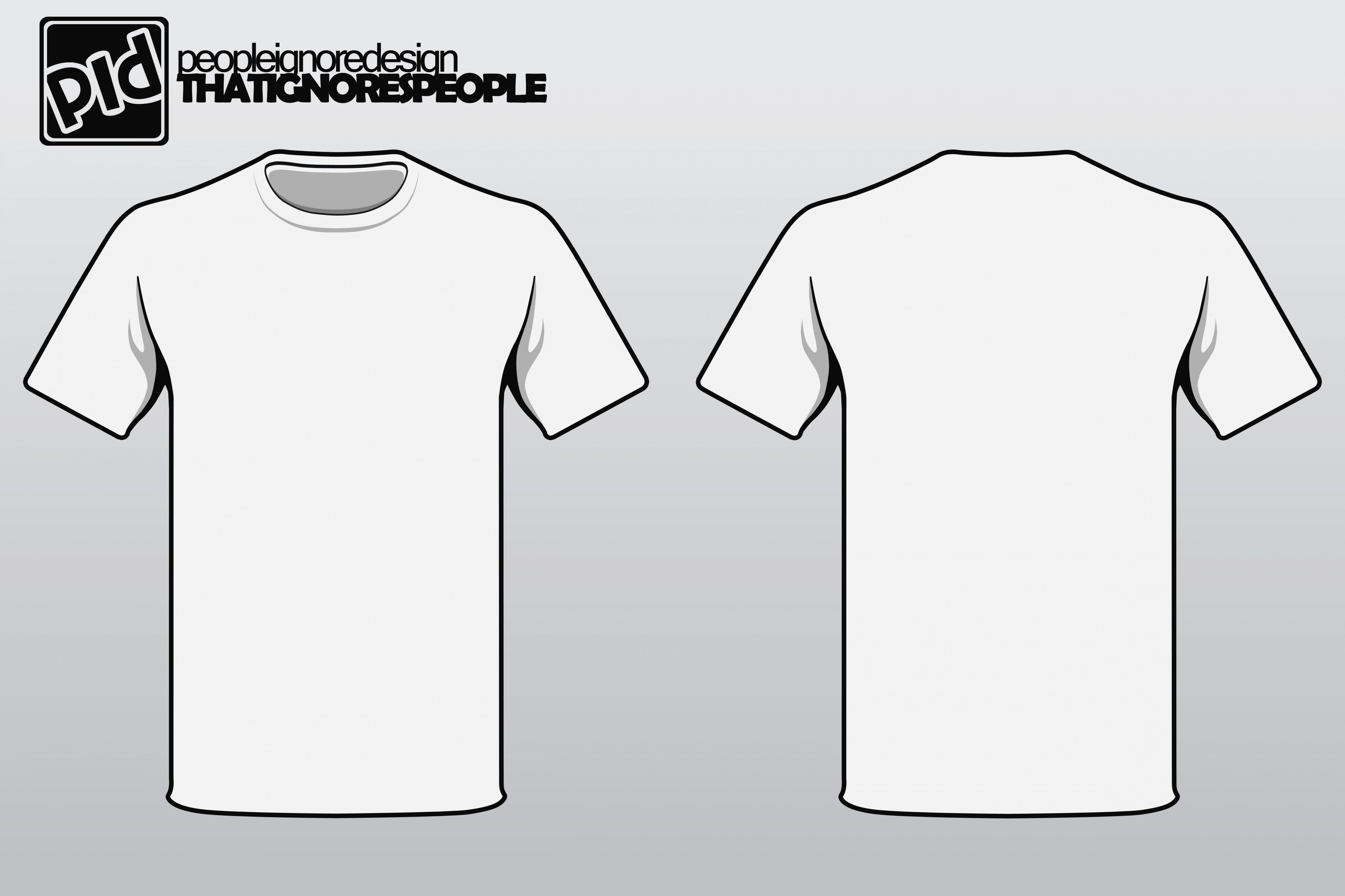 T shirt template vector for Free t shirt transfer templates