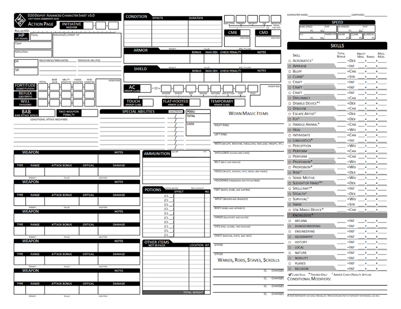 It's just an image of Nifty Printable Pathfinder Character Sheet