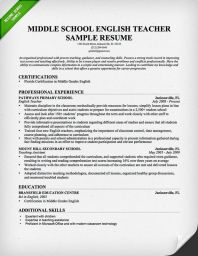 resume english examples