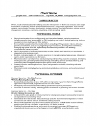 Resume objective statement community service