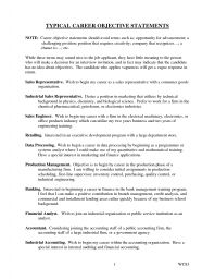resume objective sentences