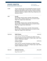 Free Downloadable Resume Templates