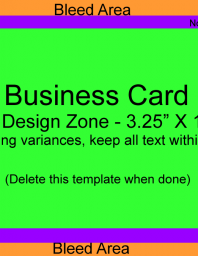 Business Card Size