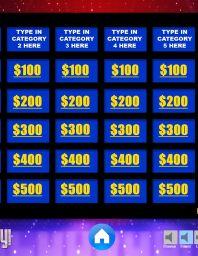 Jeopardy Templates