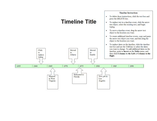 designing the power point timeline template
