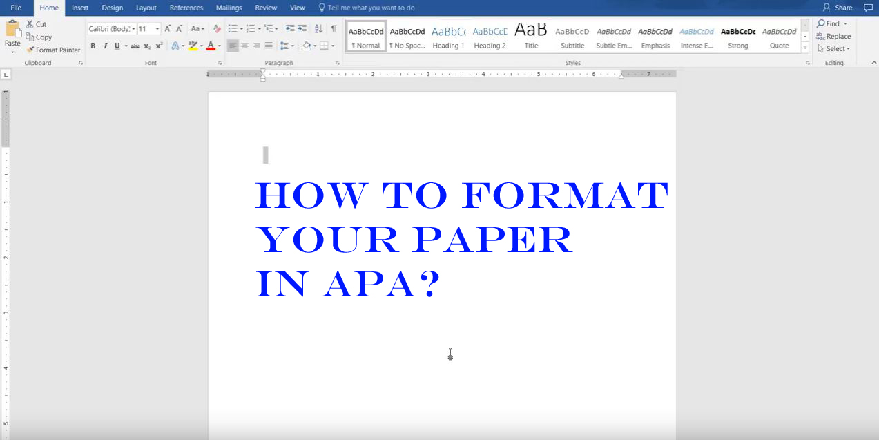 how to format your paper in apa