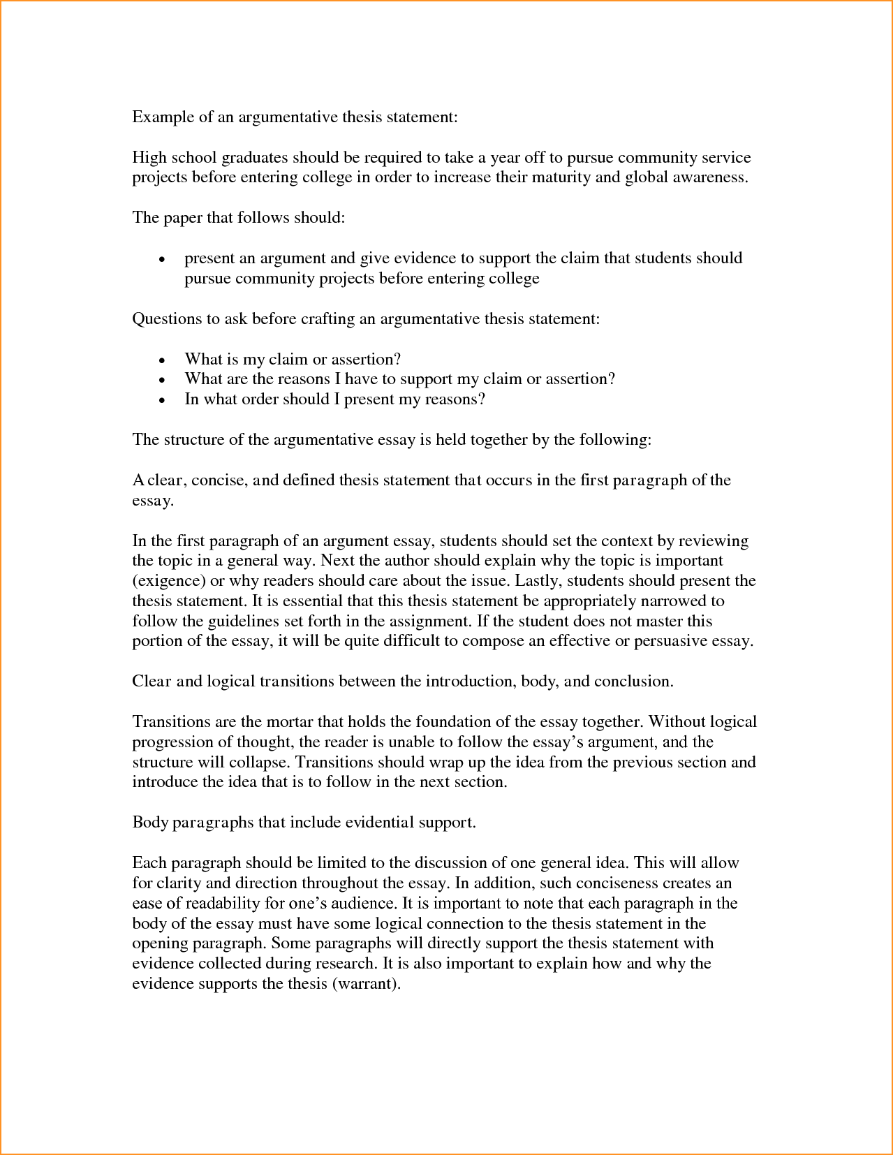 is my thesis statement good To write a good thesis statement, it is vital that you have a thorough understanding of certain aspects that include the subject of your essay, what a thesis .