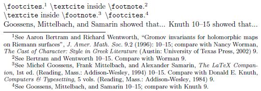 mla footnote format
