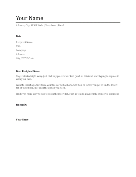 Cover letters for resume