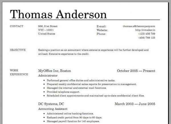 how to make a resume on your phone