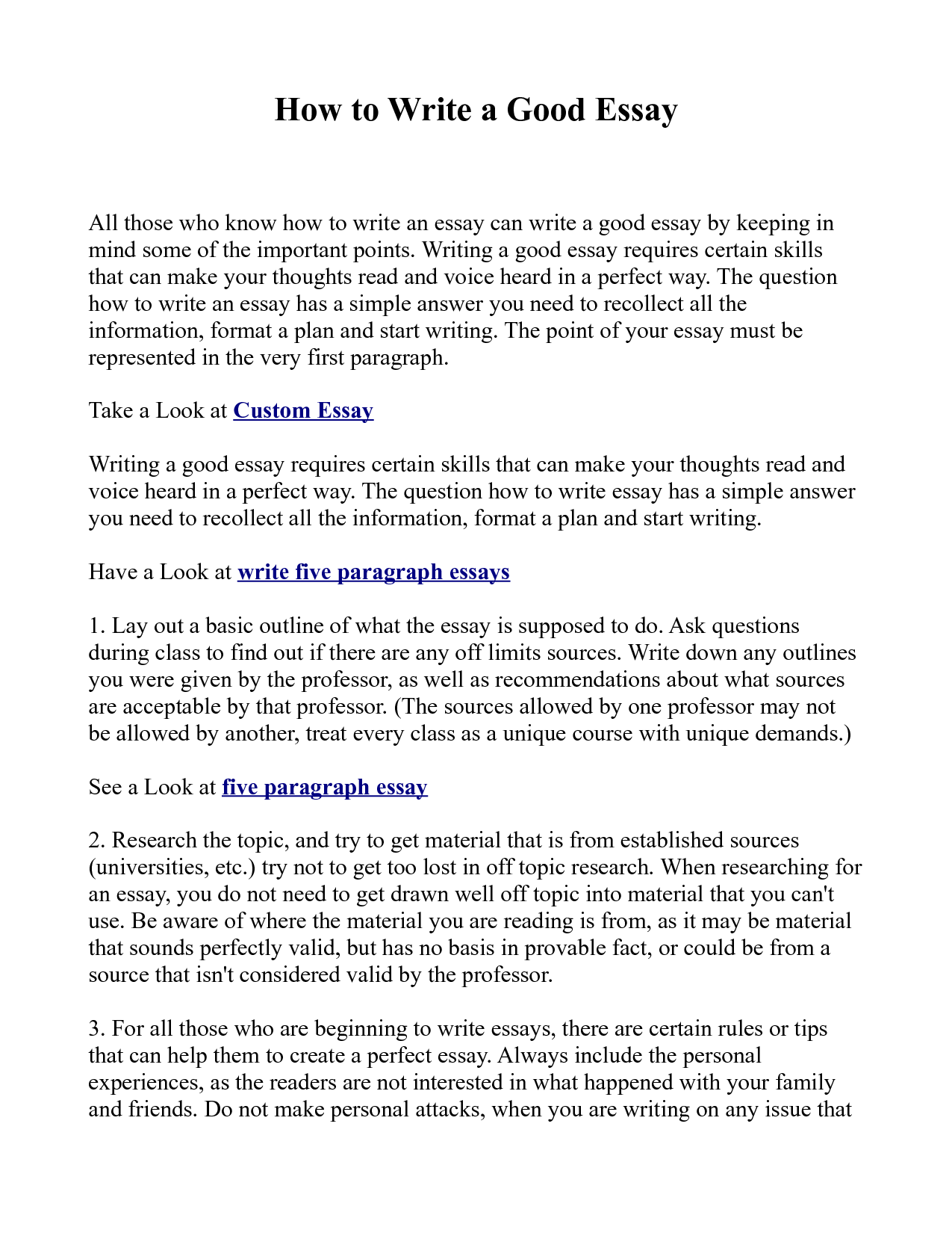 essay about writing an essay
