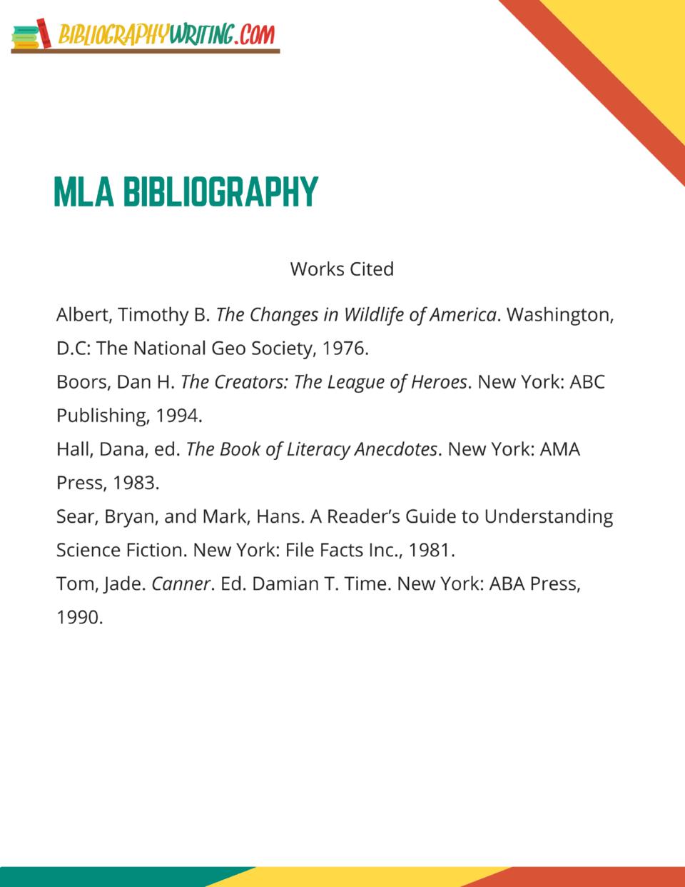 Do write a bibliography