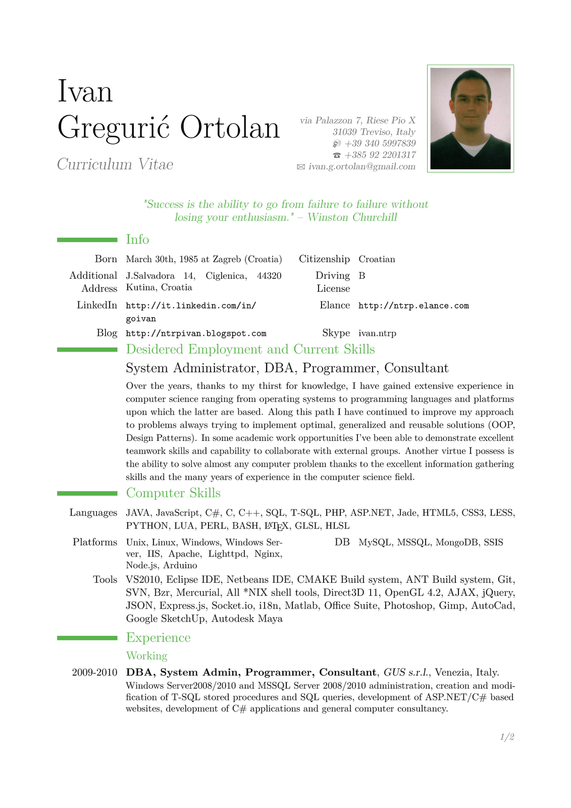 Sample cover letter computer analyst