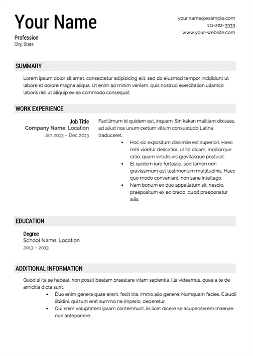 printable resume templates how to make your resume look 24080 | resume template 9